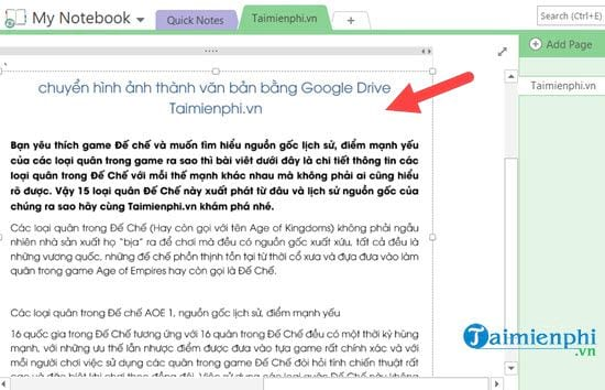 How to switch pictures with onenote 5