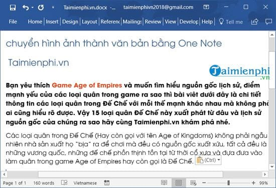 How to switch pictures with onenote 9