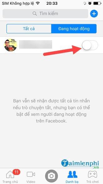 Cách tắt trò chuyện trên Messenger 7