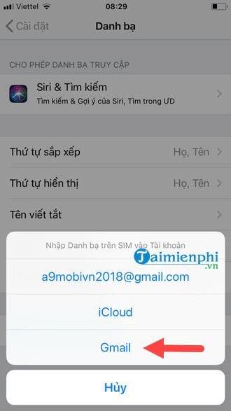 Cách sao lưu khôi phục danh bạ điện thoại từ Gmail 5