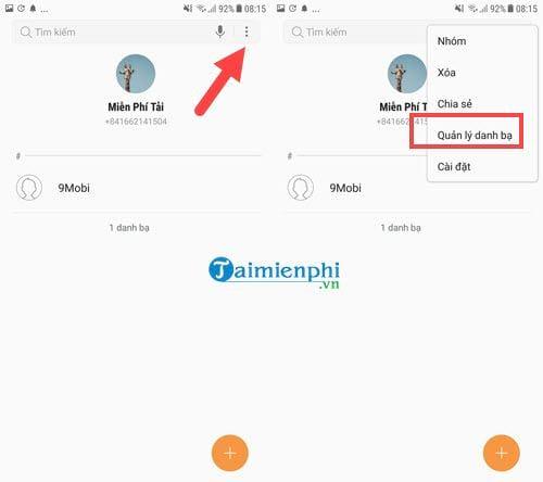 Cách sao lưu khôi phục danh bạ điện thoại từ Gmail 8