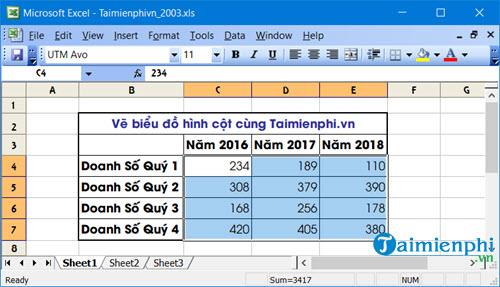 Cách vẽ biểu đồ hình cột trong Excel 2019, 2016, 2013, 2010, 2007, 2003 25
