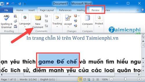 Cách tạo comment trong Word, tạo và xóa comment 7