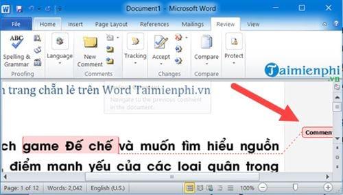 Cách tạo comment trong Word, tạo và xóa comment 8