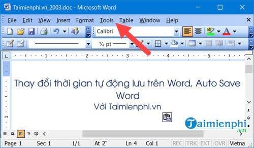 thay doi thoi gian tu dong luu tren word auto save word 8