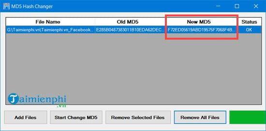 Cách sử dụng MD5 Hash Changer Tool để đổi MD5 của video, file 7