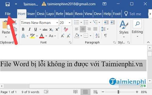 File Word bị lỗi không in được 4
