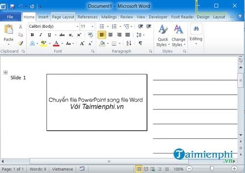 cach chuyen file powerpoint sang file word 5