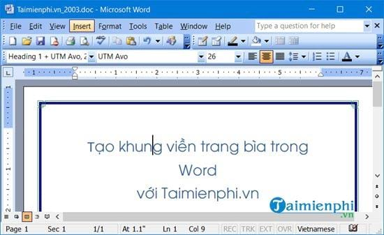 cach lam duong vien trong word