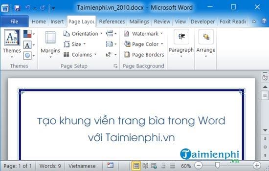 cach tao khung bia trong word 2007