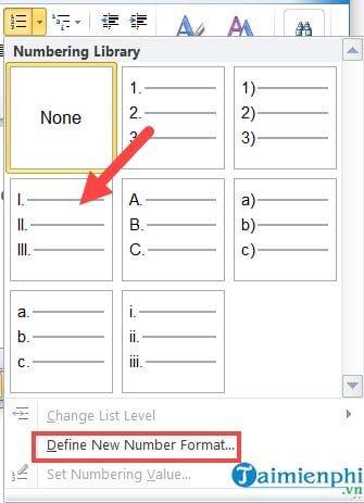 Cách viết số La Mã trong Word, đánh chỉ mục số la mã 8