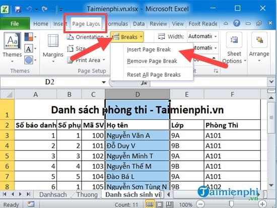 Hướng dẫn in Excel trên 1 trang giấy A4, vừa khít khổ giấy 3