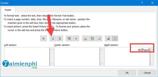 Hướng dẫn đánh số trang 1/2 trong Excel 10