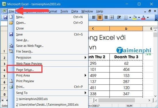 Hướng dẫn đánh số trang 1/2 trong Excel 14