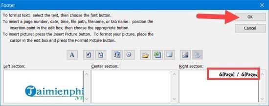 Hướng dẫn đánh số trang 1/2 trong Excel 18