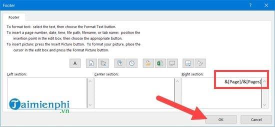 Hướng dẫn đánh số trang 1/2 trong Excel 5