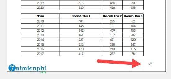 Hướng dẫn đánh số trang 1/2 trong Excel 7