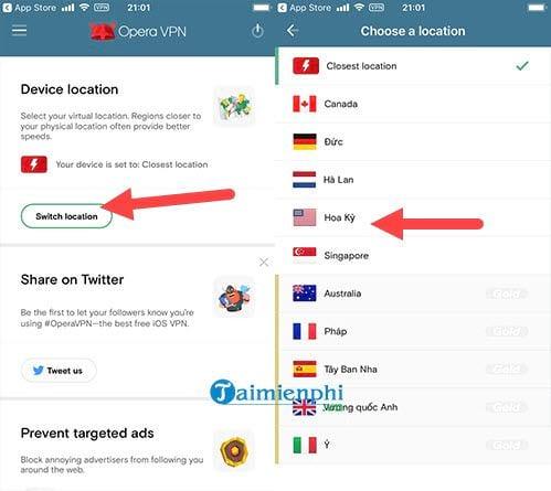 Fake IP trên iPhone, đổi địa chỉ IP trên điện thoại iPhone, iPad