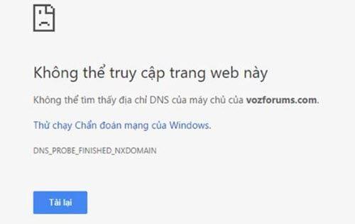 Cách đổi DNS để vào VOZ
