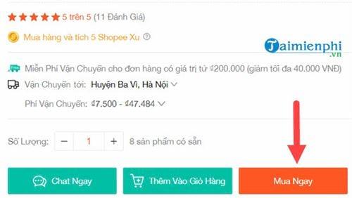 Cách mua hàng Shopee trên máy tính 6