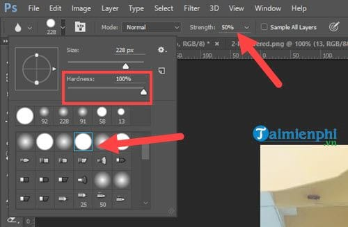 How to delete photos in Photoshop 4