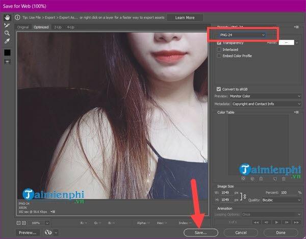 Cách lưu ảnh trong Photoshop, jpg, png, chất lượng cao, chuyên nghiệp