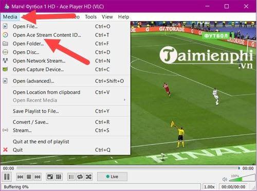 Cách sử dụng Ace stream xem bóng đá trực tiếp 12