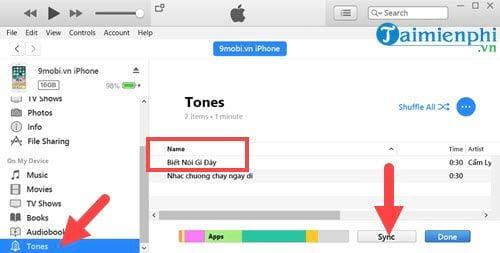 Cách cài nhạc chuông cho iPhone bằng iTunes 10