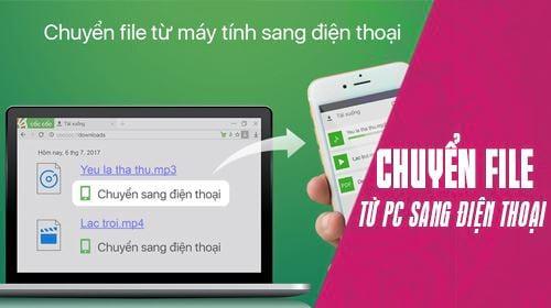 huong dan cach chuyen file tu may tinh sang dien thoai bang coc coc