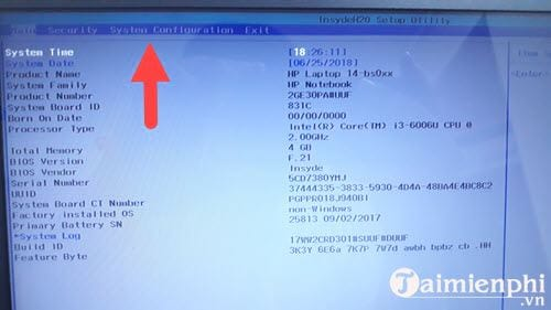 Cách chỉnh BIOS trên laptop HP để BOOT từ USB 3