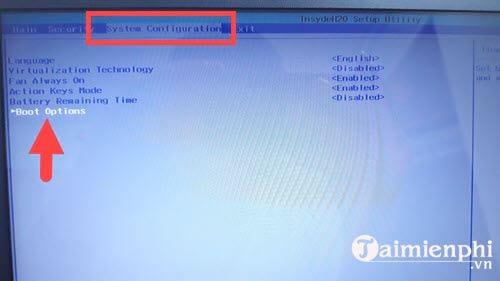 Cách chỉnh BIOS trên laptop HP để BOOT từ USB 4