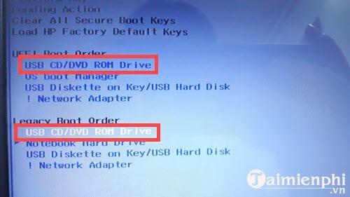 Cách chỉnh BIOS trên laptop HP để BOOT từ USB 6
