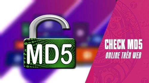 Cách check MD5 Online trên trình duyệt