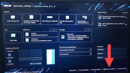 Cách chỉnh BIOS trên laptop Asus để BOOT từ USB 3
