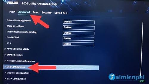 Cách chỉnh BIOS trên laptop Asus để BOOT từ USB 4