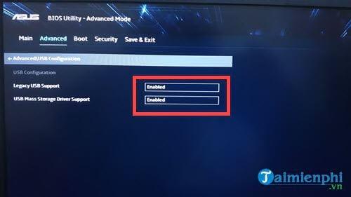 Cách chỉnh BIOS trên laptop Asus để BOOT từ USB 5