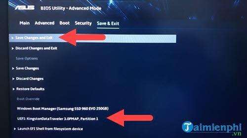 Cách chỉnh BIOS trên laptop Asus để BOOT từ USB 7