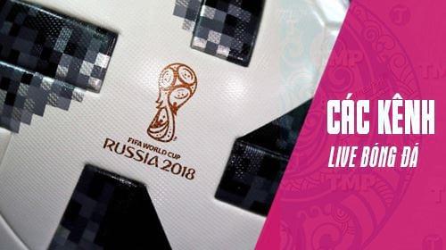 danh sach kenh xem livestream world cup 2018
