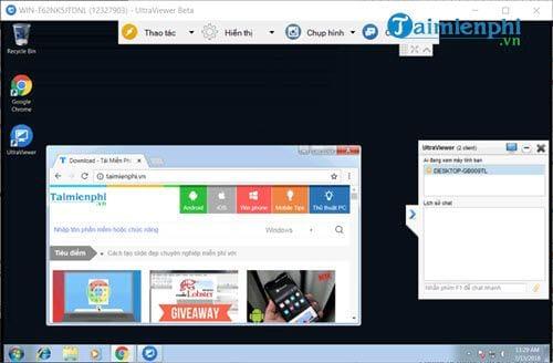 Thao tác người dùng sử dụng Ultraviewer, cách dùng Ultraviewer