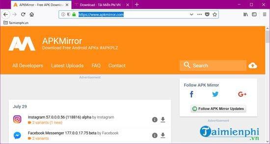 Top Website tải file APK từ Google Play, download file APK tốt nhất