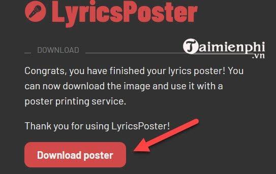 Cách tạo một poster dựa trên lời bài hát bất kỳ