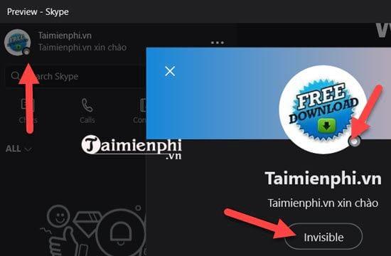 Thiết lập trạng thái Online trên Skype mới