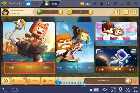 Cách chơi Mini World Block Art trên PC bằng giả lập Android 7