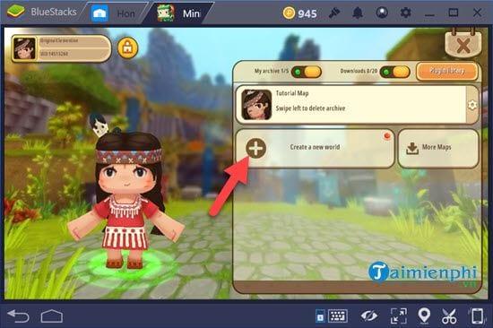Cách chơi Mini World Block Art trên PC bằng giả lập Android 8