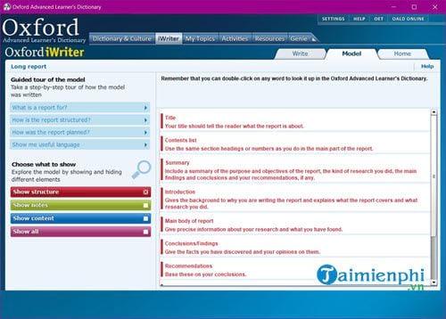 Cài và sử dụng Oxford Advanced Learners Dictionary trên máy tính 10
