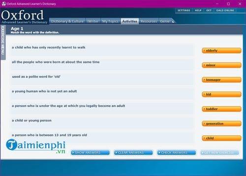 Cài và sử dụng Oxford Advanced Learners Dictionary trên máy tính 12