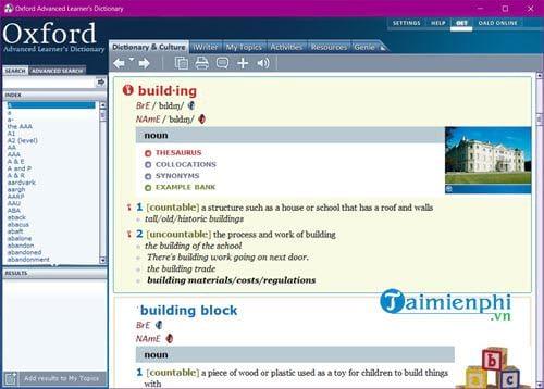Cài và sử dụng Oxford Advanced Learners Dictionary trên máy tính 8