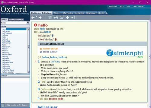 Cài và sử dụng Oxford Advanced Learners Dictionary trên máy tính 9
