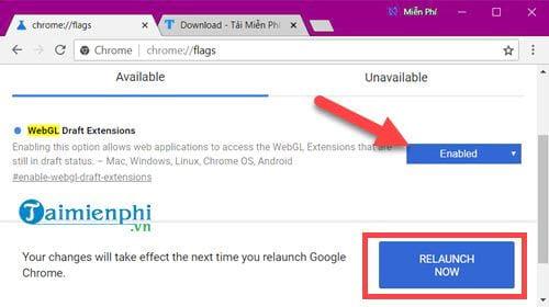 Cách bật WebGL, tắt WebGL trên trình duyệt Chrome, Coc Coc, Firefox