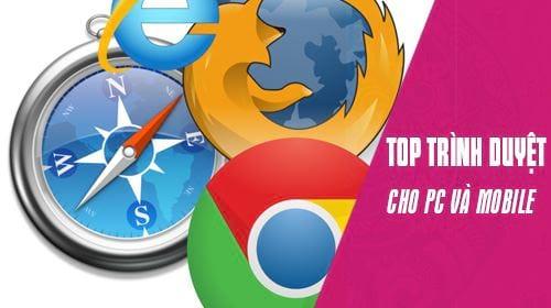 top trinh duyet web nhe nhat cho pc va mobile